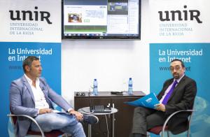 José Ángel Martínez-Usero (izquierda) y Daniel Burgos (derecha), durante la presentación / UNIR.