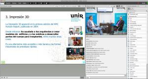 La presentación tuvo un formato de Openclass / UNIR.