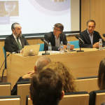 De izquierda a derecha: Daniel Burgos, Javier Tourón, Fabio Nascimbeni y  Fabián García Pastor.