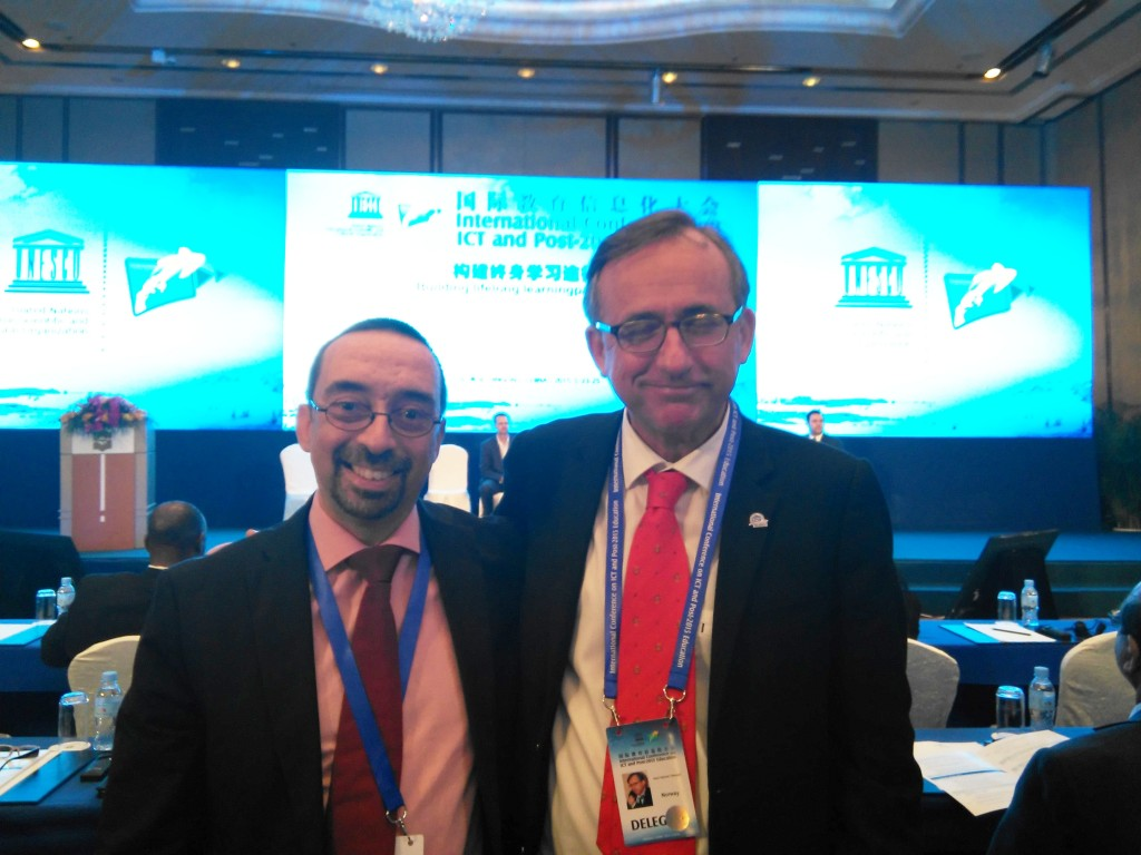 With Gard Titlestad, Secretary General of ICDE (International Council for Open and Distance Education, http://www.icde.org