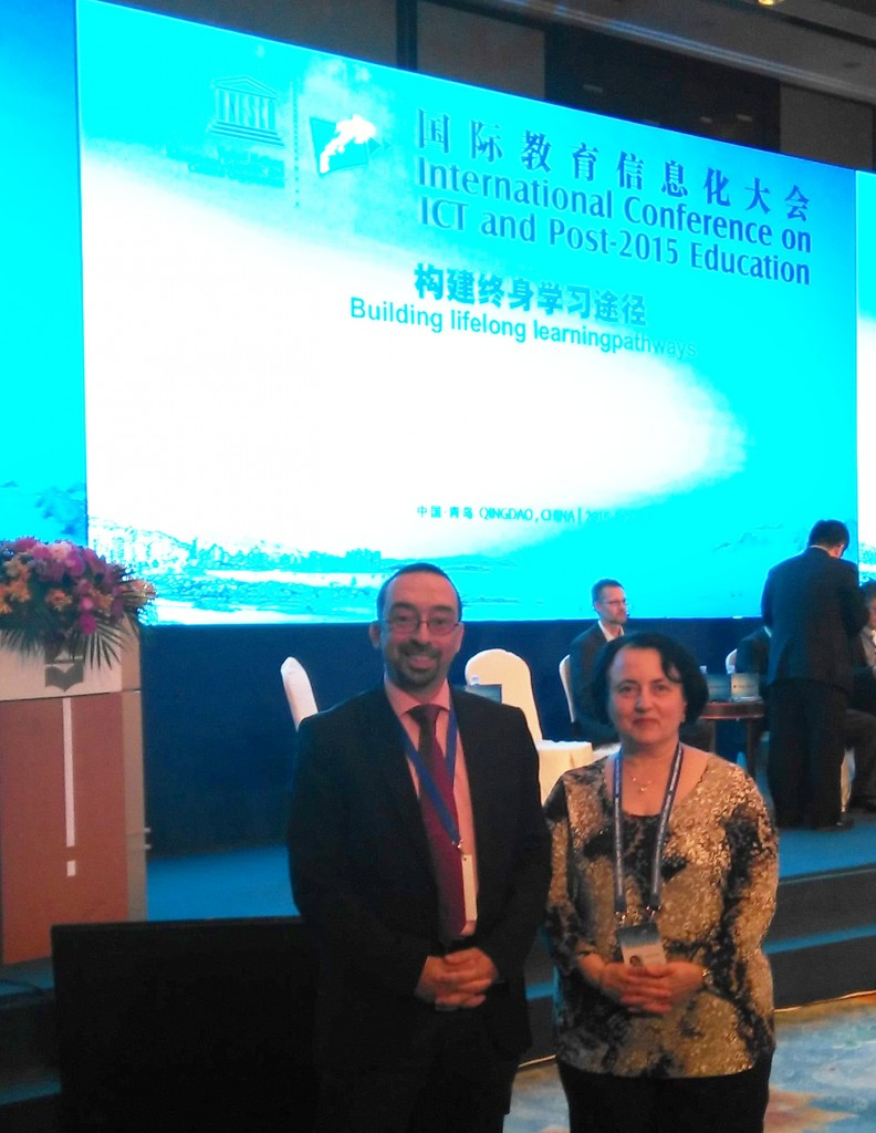 With Mariana Patru, UNESCO officer for the Chair on eLearning at  UNIR (www.unesco.org)