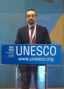 Daniel Burgos, at the Global High Level Policy Forum, at the UNESCO HQ