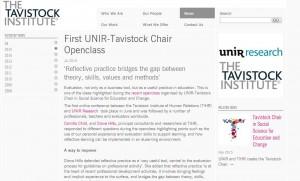 Clipping: Ejemplo de publicación internacional en colaboración con Tavistock Institute