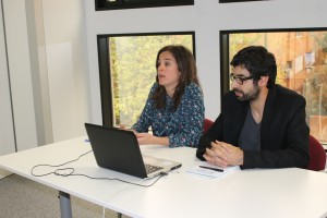 Esperanza Vergara y Enrique Navarro durante una openclass