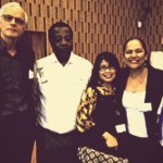 At UNESCO-ICDE Global Policy Forum, 2015 (Paris, France). Fred Mulder, Tolly S.A. Mbwette, Tian Belawati, Soledad Ramírez and Daniel Burgos