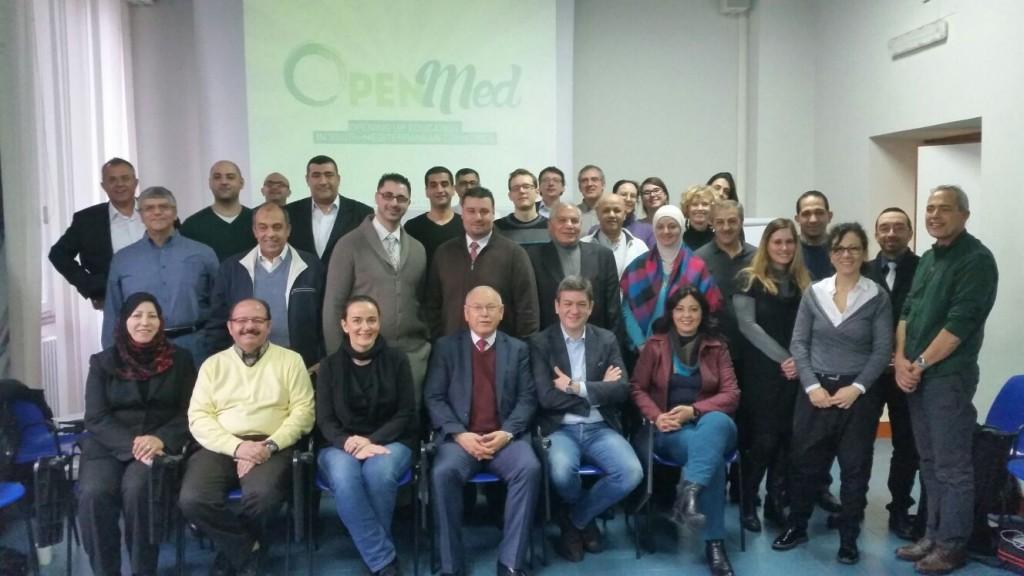 Equipo de trabajo del proyecto europeo OpenMed. Reunión de lanzamiento. Roma, 2016