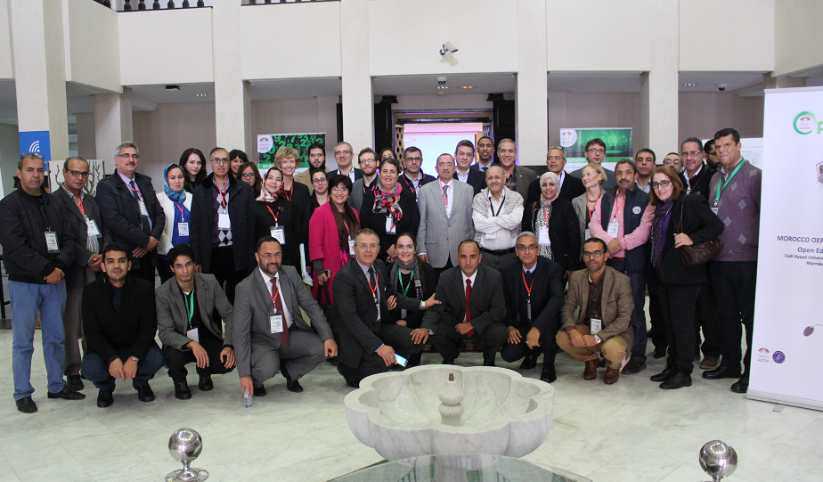 Participants at the Open Education day in Marrakech, Morocco, Dec 6-8, 2016, with the support of the OpenMed project
