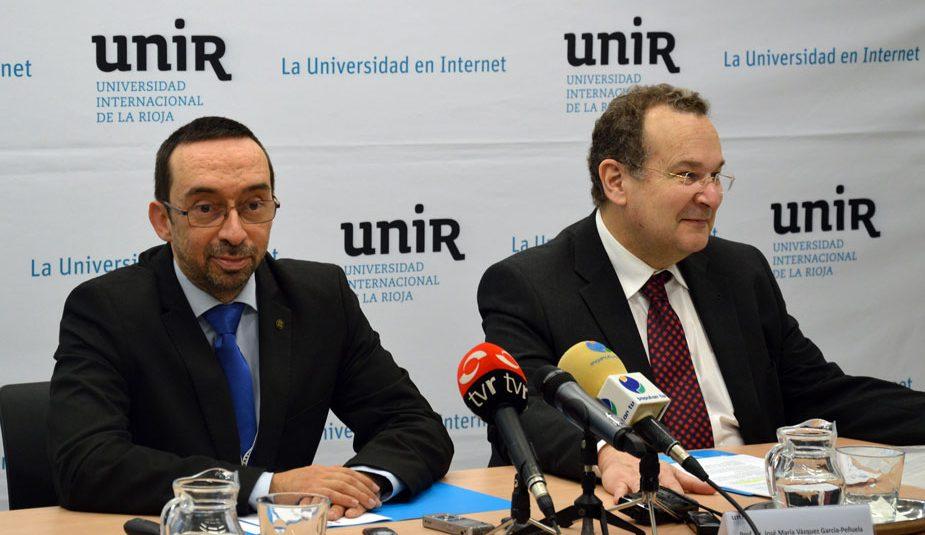 De izquierda a derecha: Daniel Burgos y José María Vázquez-Peñuela en la presentación de UNIR iTED.