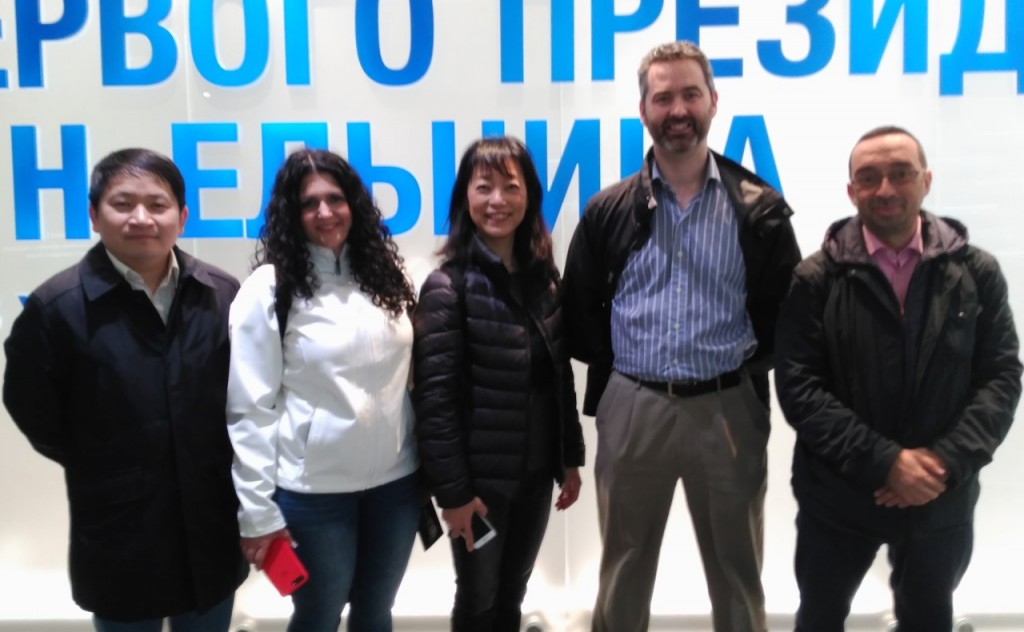 With the other speakers at #EdCrunch Ural, at the Yeltsin Center