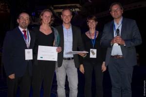 Los organizadores del reconocimiento en UNIR y ECTEL junto con la ganadora de 2017, Igne Molenaar. / Copyright Mikhail Fominykh: http://mikhailfominykh.com/