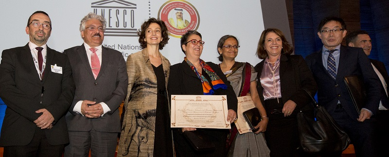 With the prize winners, some of the jury members and the Director General of UNESCO, Madam Audrey Azoulay