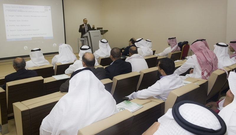 At King Abdulaziz University, workshop about e-assessment