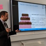 At Coventry University, at the workshop about the attainment gap, with the famous chocolate cake