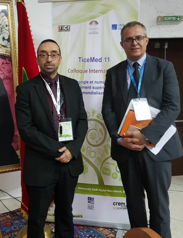 With Khalid Berrada, General co-chair of TICEMED 11, Professor at Université Cadi Ayyad and UNESCO Chair